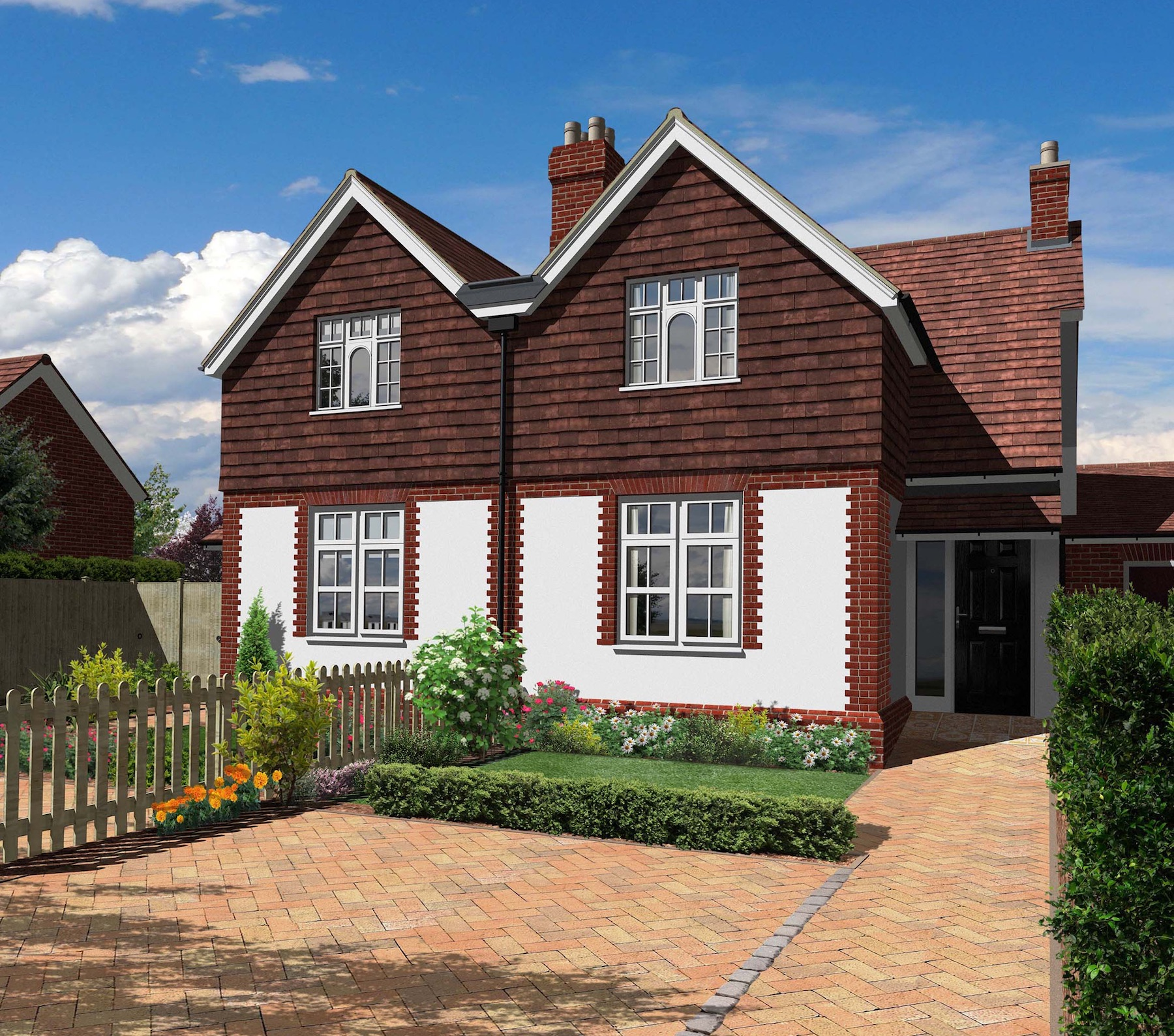2 3 bedroom semi-detached family homes, Stamford Green, Epsom